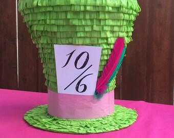 "Alice in Wonderland Themed Piñatas , 18"" Mad Hatter Hat Piñata"