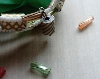 stripefully - beaded cuff bracelet