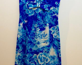 Real long 1970 Vintage Hawaiian dress