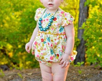Girls Easter romper - spring romper for toddler girls - baby Easter romper - girl spring romper - toddler clothes for spring- spring romper