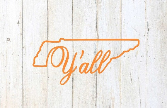 tennessee decal car decal southern tennessee vols rtic