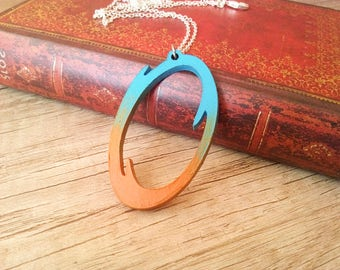 Portal Blue-Orange Necklace