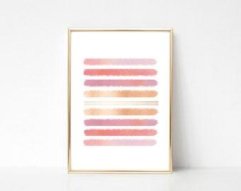 Enjoy The Silence #3,Printable Art,Printable Wall Art Print,Paint Splash Print, Pastel Color Wall Art,Digital Print,Instant Download