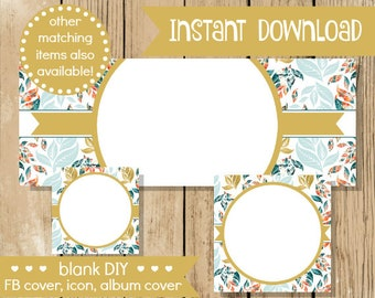 Blank diy facebook set pink gold hearts do it yourself blank diy facebook set gold leaf do it yourself blank facebook cover blank solutioingenieria Image collections