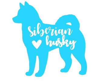 Siberian Husky Decal | Husky Decal | Dog | Pet Decal | Yeti Cup Decal | Car Decal | Laptop Sticker |
