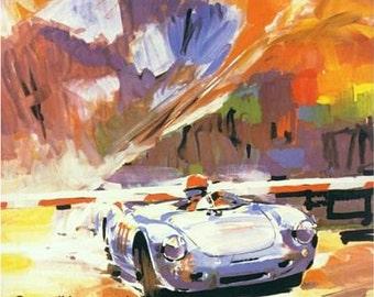 Vintage Porsche Swiss Grand Prix Motor Racing Poster  A3 Print