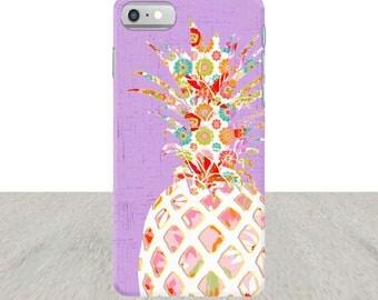 Pineapple iPhone 7 Case iPhone 6 Plus Case iPhone 5 Case purple iPhone case Samsung Galaxy S5 Case iPhone5 Case pineapple Case gift for teen