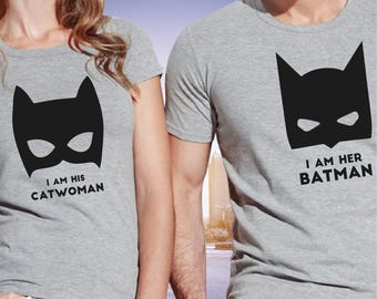 pärchen t-shirts / batman t shirt / batman couple shirts / couple shirts / his and hers shirts / couple t shirts / couples matching shirts