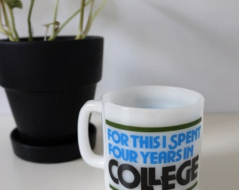 Retro Coffee Mug - Vintage Coffee Mug - Gift for College Student - College Gift - College Souvenir Mug - Vintage Coffee Cup - Glasbake Mug