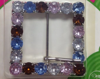 Large Square Jeweled Buckle