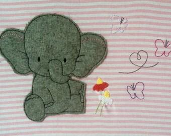 Elephant Doodle embroidery file