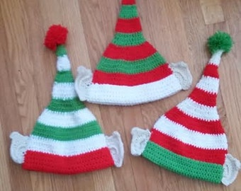 Christmas Striped Elf Hat with Ears!