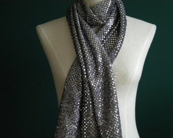 Silver/Black Fashion Scarf (Standard & Infinity)