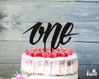 1st Birthday Cake Topper- Gold Glitter Number Cake Topper- Birthday Cake Decorations- Personalized birthday cake topper- Custom Cake Topper