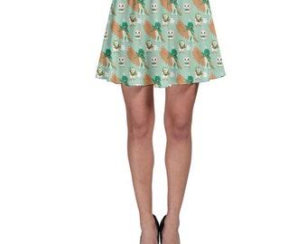 Rowlet Skirt - Decidueye Skirt Pokemon Skirt Pokemon Sun and Moon Dartrix Skirt Plus Size Cosplay Skater Skirt Rowlet Evolutions Skirt