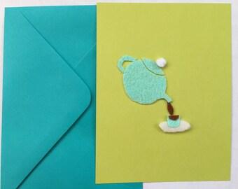 Teapot felt card