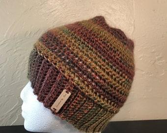 Messy bun hat- ready to ship- messy bun beanie- ponytail hat-bun hat