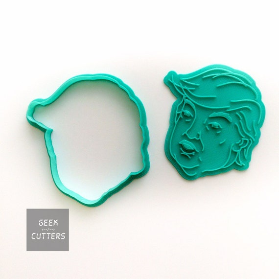 Donald Trump Cookie Cutter - Fondant, Backing Mold, 3d printed, Cookiecutter, Sadfrog