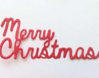 Merry Christmas Die Cut, Holiday and Christmas Party Die Cut Shapes, Card Making and Scrapbooking Paper Supplies, Letters & Decorations