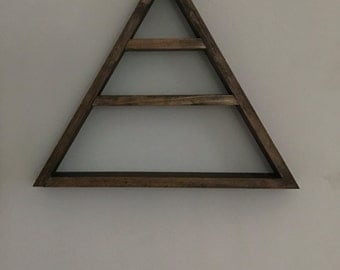 Wooden Triangle Shelf- Three Levels| Decorative Shelf