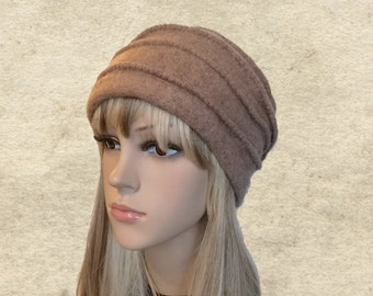 Felted wool beanie, Womens winter hat, Felted hats women, Ladies winter hats, Trendy winter hat, Wool felt beanie, Winter ladies hat