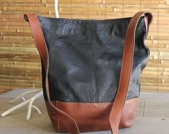 Vintage Two-Tone Floppy Handbag