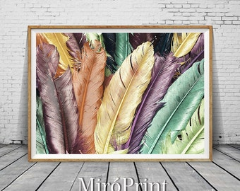 Feathers Print, Feathers Photo, Feathers Wall Art, Feather Decor, Feather Photography Print, Feathers Poster, Printable Feather, Feather Art