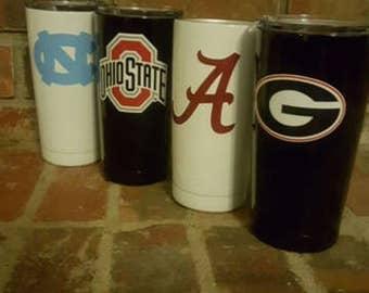 20 oz. Alabama, Ohio State, UGA, UNC hand painted and designed YETI!