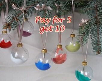 Christmas ball Multicolor Christmas ornaments Christmas decoration Holiday gift Pay for 5 get 10