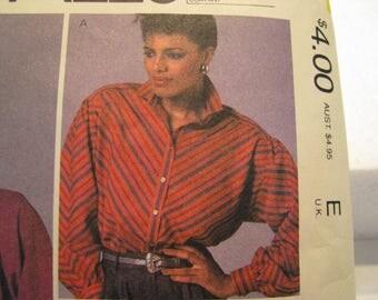 Vintage Sewing Pattern, McCall's 8811, Liz Claiborne Misses Shirt Pattern size 8