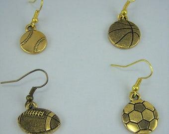E248, Sports Gold Earrings