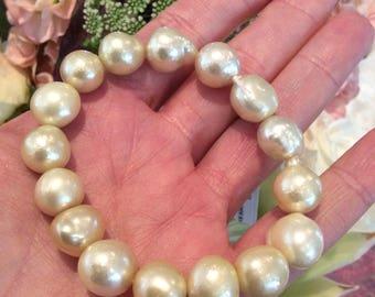 Golden South Sea Pearl Bracelet  #3323