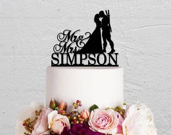 Wedding Cake Topper,DeadPool Cake Topper,DeadPool Groom Topper,Custom Cake Topper,Mr And Mrs Cake Topper,Groom And Bride Topper