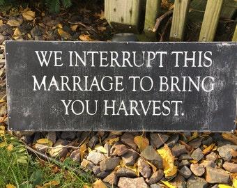 Harvest Time wooden sign