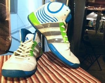 Custom Hand Painted Adidas High Tops, Size 10 Mens