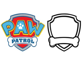 Paw patrol svg, Paw patrol dxf, cartoon svg, paw patrol logo svg, dxf, cricut, silhouette cutting file, download