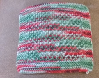 Knitted Dishcloth, Handmade, 100% cotton