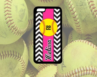 Chevron Softball Glove Phone Case, iPhone 4/4s, iPhone 5/5s, iPhone 5c, iPhone 6/6s, iPhone 6+/6s+, Samsung S4 S5 S6, Note 3, Note 4, Note 5