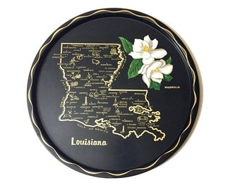 Vintage Metal Louisiana Souvenir Tray