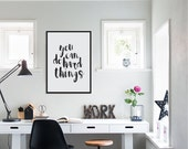 You Can Do Hard Things, Typography Art Print, Minimalist Art, Motivational Poster, Inspirational Quote, Kids Room Decor Modern Office Decor,