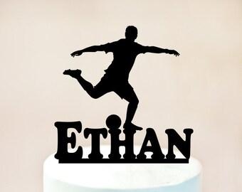 Footballer Cake Topper,Soccer Cake Topper,Football party,Soccer birthday Cake Topper,Footballer birthday Cake Topper,Soccer party (1061)