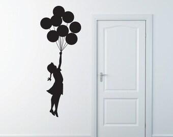 Banksy Wall Sticker Decal - Flying Balloon Girl