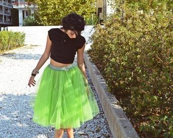 Green Woman Tutu Adult Tulle Skirt Women Engagment