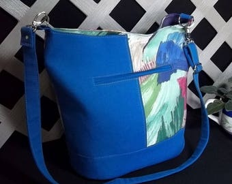 Free Shipping! Swoon Bonnie Bucket Bag, Blue, Multi-Colored, , Shoulder Bag, Purse