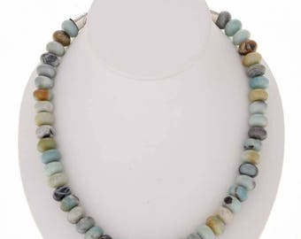 Navajo Beaded Necklace Agate Rondells Single Strand