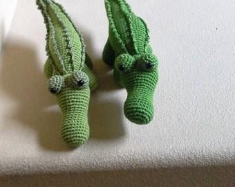 Crocodile Amigurumi / handmade crochet amigurumi / crocodile stuffed/ plushie croc/