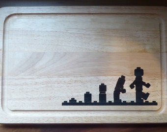 Lets build lego Cheese Board or Bread Board. Laser engraved.