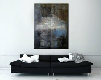 Wall art decor, Black and White wall art, Large wall art canvas, Painting Giclee, Decor Giclee, Painting Original, Black art, Home decor art