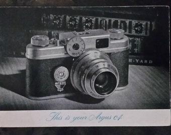 Vintage Argus c4 camera instructions