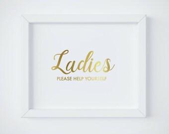 Bathroom Signs Pdf womens bathroom sign | etsy